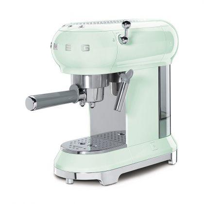 Espressor cafea Smeg ECF01PGEU, verde deschis, retro, 15 bar