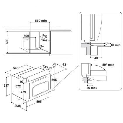 Cuptor incorporabil electric Hotpoint FIT 804 H AV, retro, avena, hidrolitic