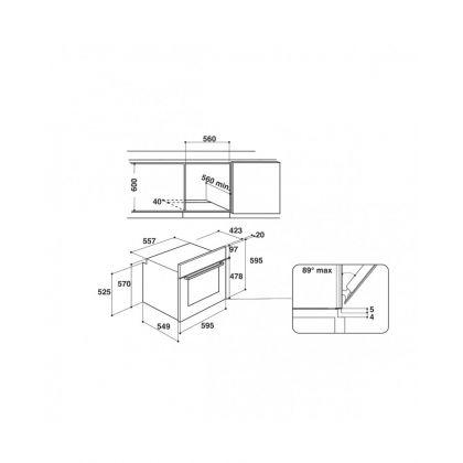 Cuptor incorporabil electric Hotpoint FA2 544 JC IX, catalitic, 8 functii, inox