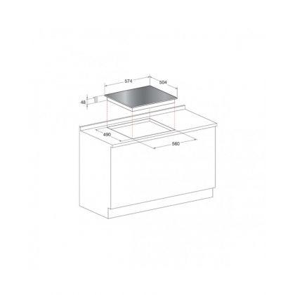 Plita incorporabila vitroceramica Hotpoint HR 632 B, Touch Control, timer