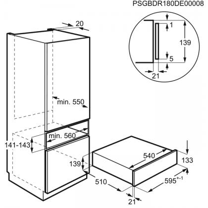 Aparat de vidat Electrolux KBV4X, 8 l, marinare/vidare