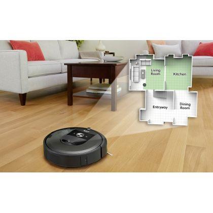 Aspirator inteligent iROBOT Roomba i7+, navigatie iAdapt® 3.0, golire automata cos, curatare nelimitata