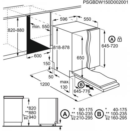 Masina de spalat vase incorporabila Electrolux EES47320L, 60 cm, 13 seturi, A+++, 8 programe, inverter
