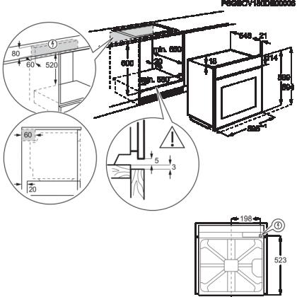 Cuptor incorporabil electric Electrolux EOE8P31X, inox, pirolitic, FoodProbe