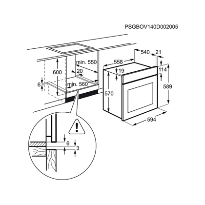 Cuptor incorporabil electric Electrolux EZF5C50V, catalitic, Alb
