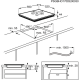 Plita incorporabila inductie Electrolux CIR60430CB, 60 cm, conexiune Hob2Hood