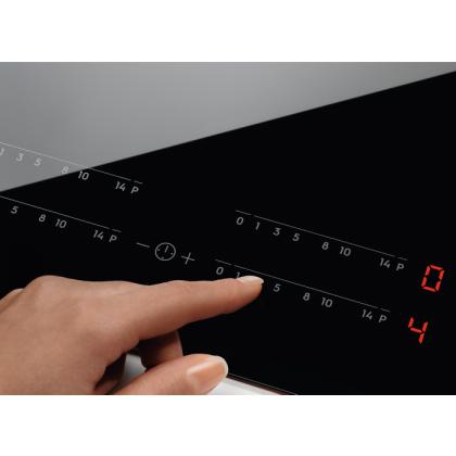 Plita incorporabila inductie Electrolux EIS6134, 60 cm, conexiune Hob2Hood, zone Infinite, SenseFry