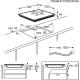 Plita incorporabila inductie Electrolux EIS6448, 60 cm, SenseFry, functie punte, Hob2Hood, gri inchis