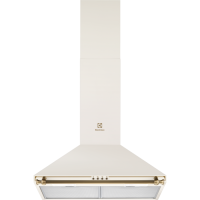 Hota semineu Electrolux EFC226V, 60 cm, retro, Galben vanilie