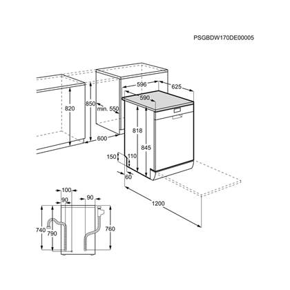 Masina de spalat vase Electrolux ESF9500LOX, 60 cm, Inox, AirDry Motor Inverter