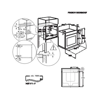 Cuptor incorporabil cu aburi Electrolux KOAAS31WX, Sousvide, Inox, autocuratare cu abur, A++ 70 l