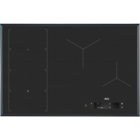 Plita incorporabila cu inductie AEG, IAE84851FB, SENSEFRY, Hob2Hood, 80 cm, Negru