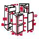 Combina frigorifica incorporabila Teka No Frost CI3 350 NF, Alb