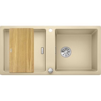 Chiuveta de bucatarie BLANCO ADON XL 6 S, 523610, Sampanaie, 98 cm, tocator lemn inclus