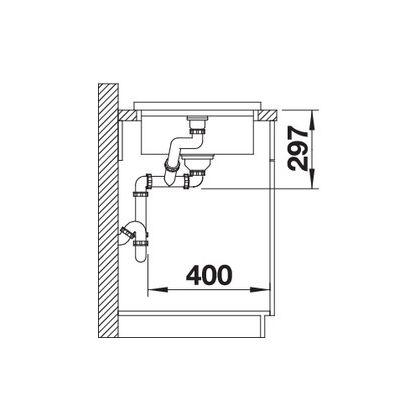 Chiuveta de bucatarie BLANCO ADON XL 6 S, 523605, gri piatra, 98 cm, tocator lemn inclus