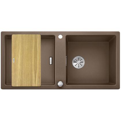 Chiuveta de bucatarie BLANCO ADON XL 6 S, 523612, Nuc, 98 cm, tocator lemn inclus