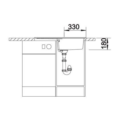 Chiuveta de bucatarie BLANCO RONDOVAL 45 S 520605, Gri perlat, 80 cm