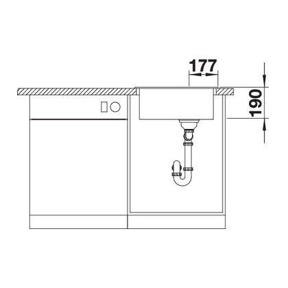 Chiuveta de bucatarie BLANCO ARTAGO 6 521763, Sampanie, 51 cm, reversibila, silgranit