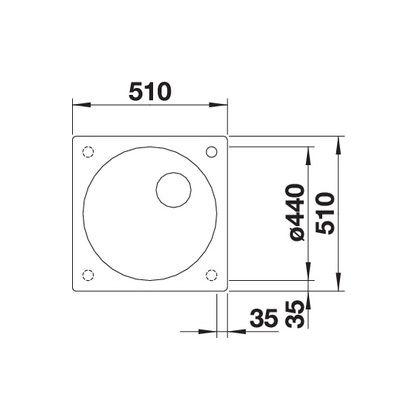Chiuveta de bucatarie BLANCO ARTAGO 6 521756, Gri piatra, 51 cm, reversibila, silgranit