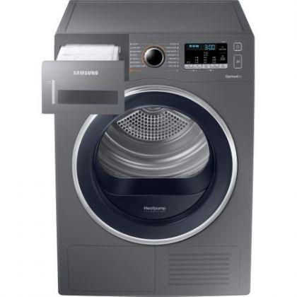 Uscator rufe Samsung DV90M5010QX, Argintiu, pompa de caldura,9 kg, A++, afisaj LED
