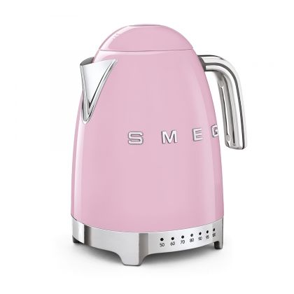 Fierbator de apa retro Smeg KLF04PKEU, roz, 7 nivele temperatura