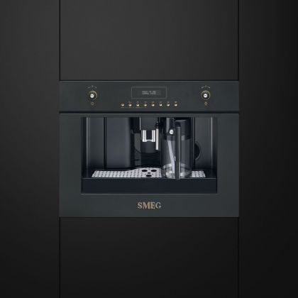 Espressor incorporabil retro Smeg Colonial/Cortina CMS8451A, antracit