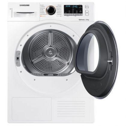 Uscator rufe Samsung DV80M5010QW, Alb, pompa de caldura, 8kg, A++