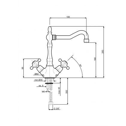 Baterie de bucatarie Smeg MIR8A, retro, antracit