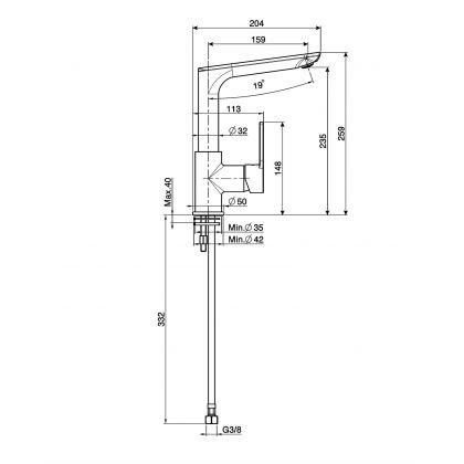 Baterie de bucatarie Smeg MFM2CT, crom si ciment