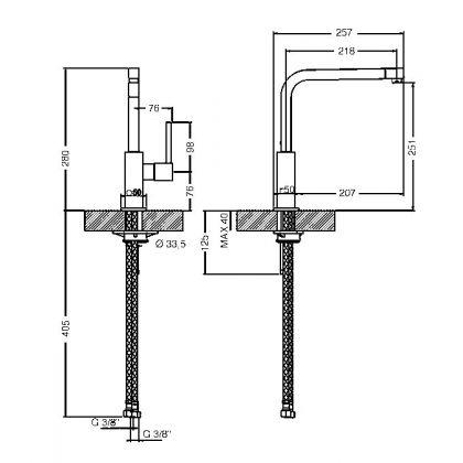 Baterie de bucatarie Smeg MFQ6-CR, crom