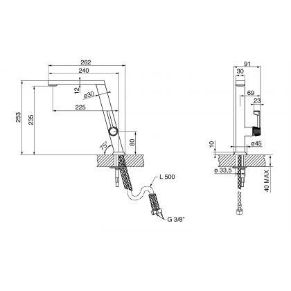 Baterie de bucatarie Smeg MMN24-CR, crom