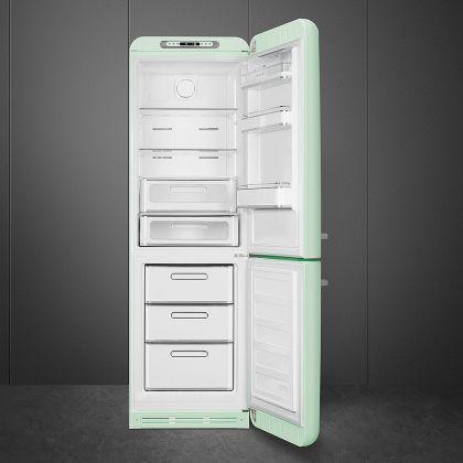 Combina frigorifica retro Smeg FAB32RPG3, No Frost, clasa A+++, verde pal, inverter