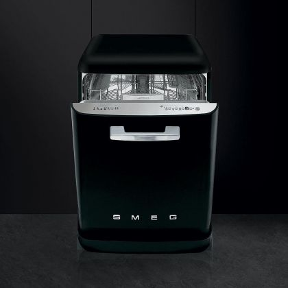 Masina de spalat vase retro Smeg LVFABBL, negru, clasa A+++, 10 programe