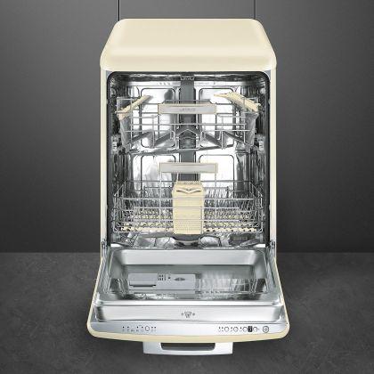 Masina de spalat vase retro Smeg LVFABCR, crem, clasa A+++, 10 programe
