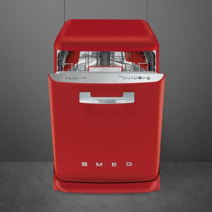 Masina de spalat vase retro Smeg LVFABRD, rosu, clasa A+++, 10 programe
