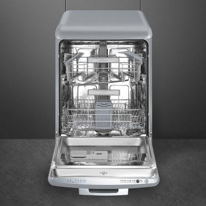 Masina de spalat vase retro Smeg LVFABSV, gri, clasa A+++, 10 programe