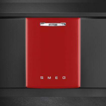 Masina de spalat vase retro incorporabila Smeg ST2FABRD, 60 cm, clasa A+++, rosu