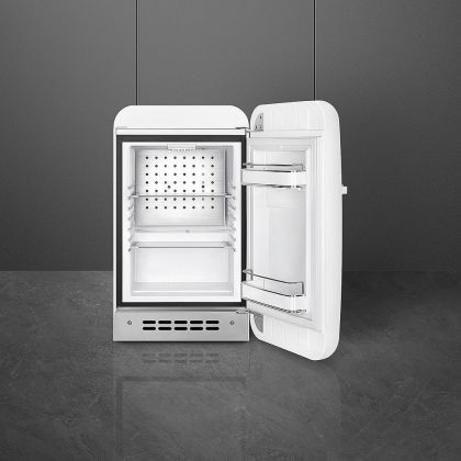 Frigider minibar retro pentru bauturi Smeg FAB5RWH3, alb, 40 cm latime