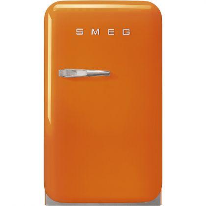 Frigider minibar retro pentru bauturi Smeg FAB5ROR3, portocaliu, 40 cm latime