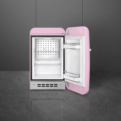 Frigider minibar retro pentru bauturi Smeg FAB5RPK3, roz, 40 cm latime
