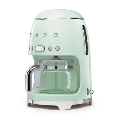 Cafetiera retro Smeg DCF02PGEU, verde deschis