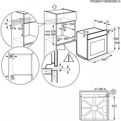 Cuptor incorporabil Electrolux EOA5654ANX,inox, SteamBake, autocuratare catalitica, A+, 72 l