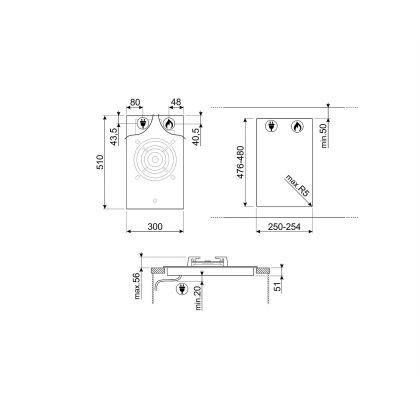Plita incorporabila pe gaz Smeg Classic PV331CN, 30 cm