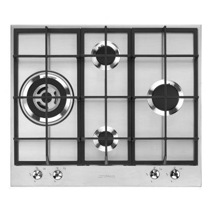 Plita incorporabila pe gaz Smeg Linea PX364L, 60 cm, inox, Wok