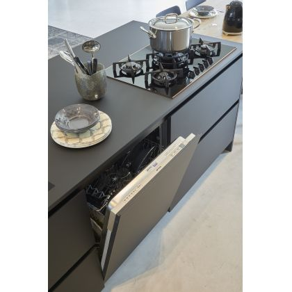 Plita incorporabila vitroceramica pe gaz Smeg Dolce Stil Novo PV675CNR, 75 cm, negru, finisaj cupru