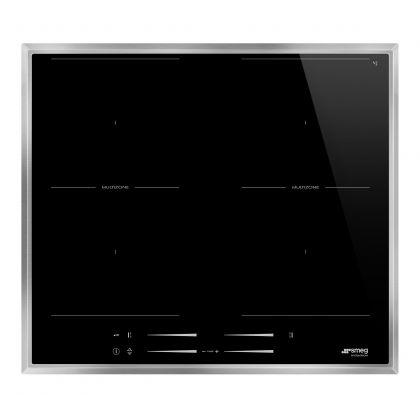 Plita incorporabila cu inductie Smeg SI2M7643FX, 60 cm latime, negru