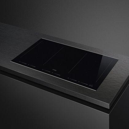 Plita incorporabila inductie Smeg Dolce Stil Novo SIM693WLDX, 90 cm latime, finisaj inox