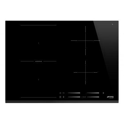 Plita incorporabila cu inductie Smeg SI1M7743B, 70 cm latime, negru