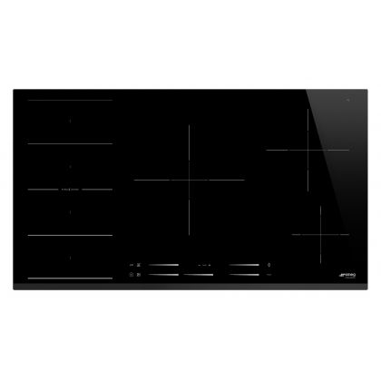 Plita incorporabila cu inductie Smeg SI1F7955B, 90 cm latime, negru