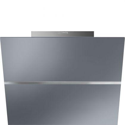 Hota de perete Smeg Linea KCV60SE2, 60 cm, Silver Glass